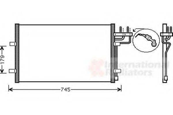 Радиатор кондиционера VAN WEZEL 18005367