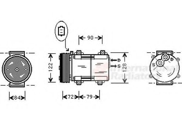Компрессор, кондиционер VAN WEZEL 1800K351