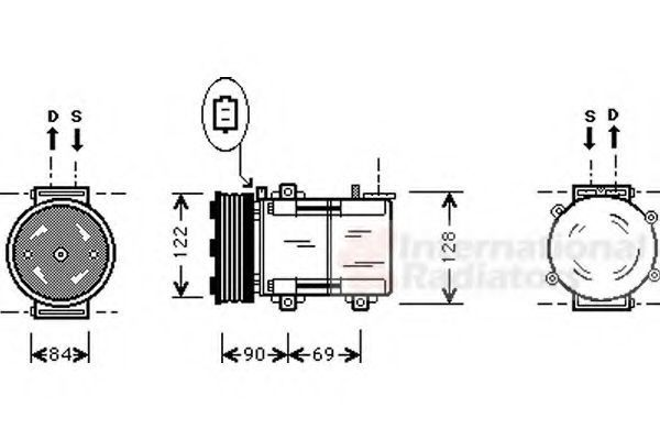Компрессор, кондиционер VAN WEZEL 1800K352