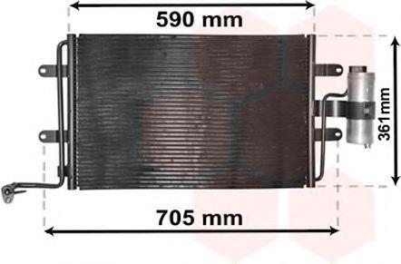 Радиатор кондиционера VAN WEZEL 03015130