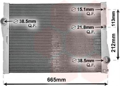 Радиатор, охлаждение двигателя VAN WEZEL 06002471