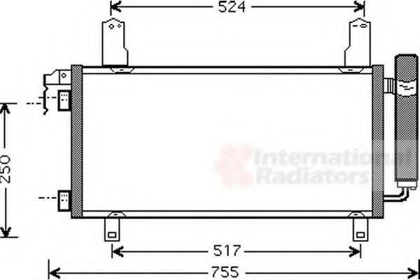 Радиатор кондиционера VAN WEZEL 27005157