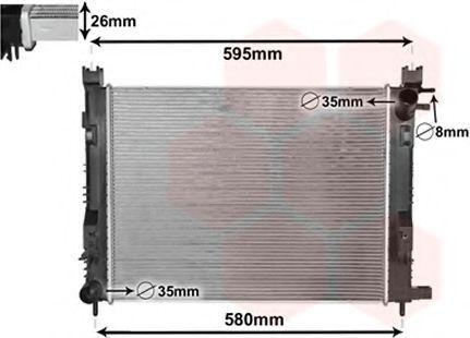 Радиатор охлаждения VAN WEZEL 15002008