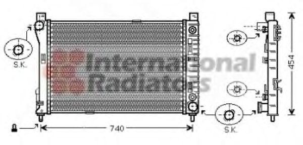 Радиатор охлаждения двигателя VAN WEZEL 30002286