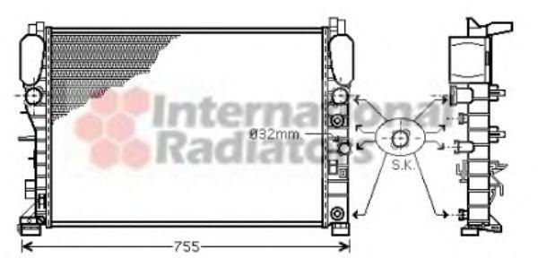Радиатор охлаждения VAN WEZEL 30002342