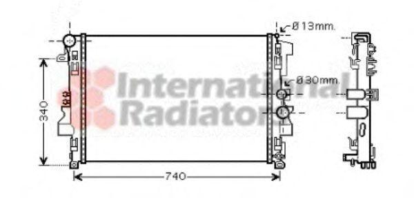 Радиатор охлаждения VAN WEZEL 30002356