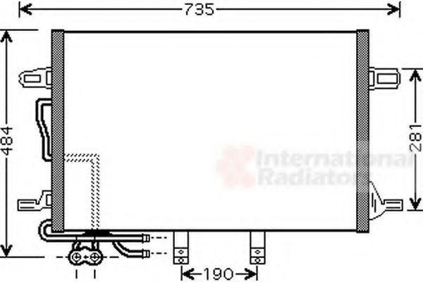 Радиатор кондиционера VAN WEZEL 30 00 5307