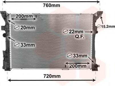 Радиатор, охлаждение двигателя VAN WEZEL 30002653