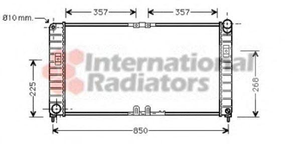 Радиатор, охлаждение двигателя VAN WEZEL 37002332