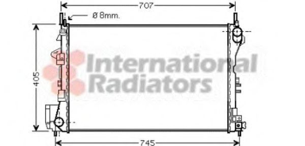 Радиатор охлаждения двигателя VAN WEZEL 3700233(8)