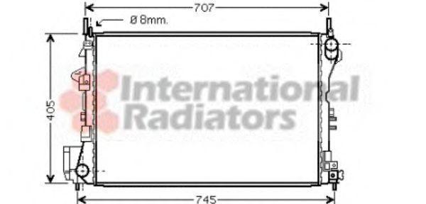 Радиатор охлаждения двигателя VAN WEZEL 37002339
