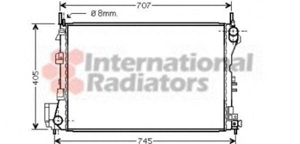 Радиатор охлаждения двигателя VAN WEZEL 37 00 2340