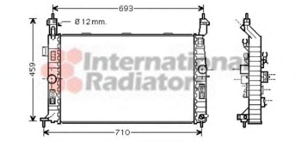 Радиатор охлаждения VAN WEZEL 37002345
