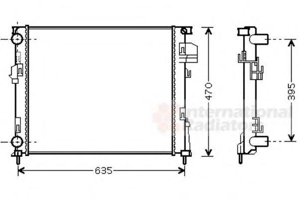 Радиатор охлаждения двигателя VAN WEZEL 43002303