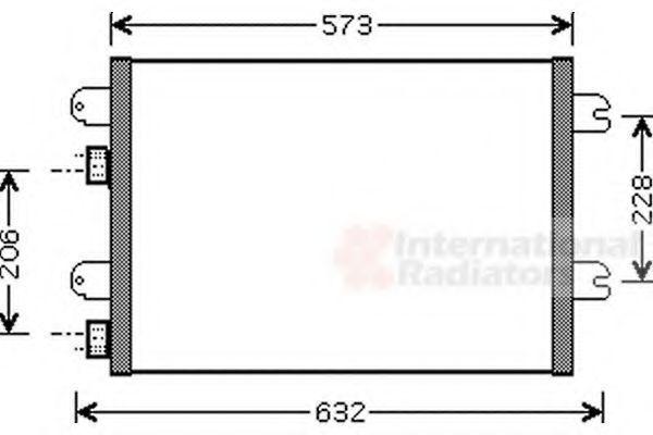 Радиатор кондиционера VAN WEZEL 43 00 5317