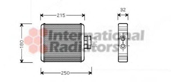 Радиатор отопителя салона VAN WEZEL 58 00 6196