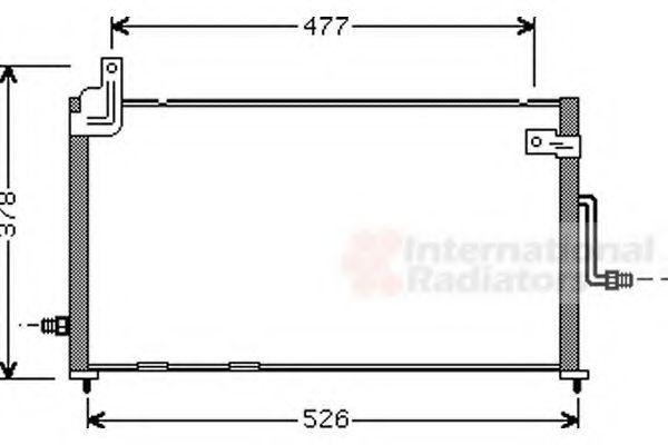 Радиатор кондиционера VAN WEZEL 81 00 5044