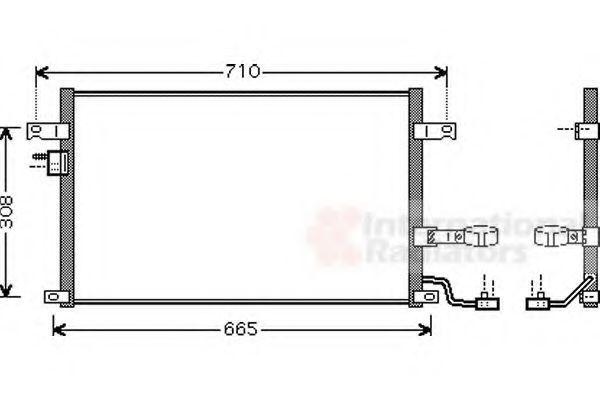 Радиатор кондиционера VAN WEZEL 81005056