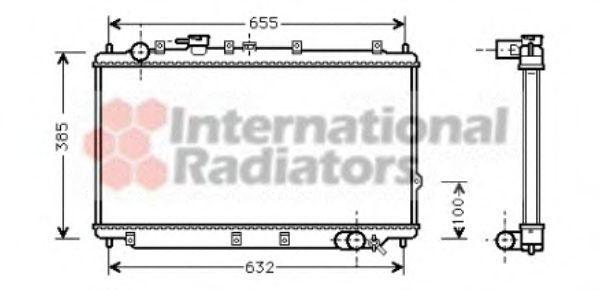 Радиатор охлаждения VAN WEZEL 83002016