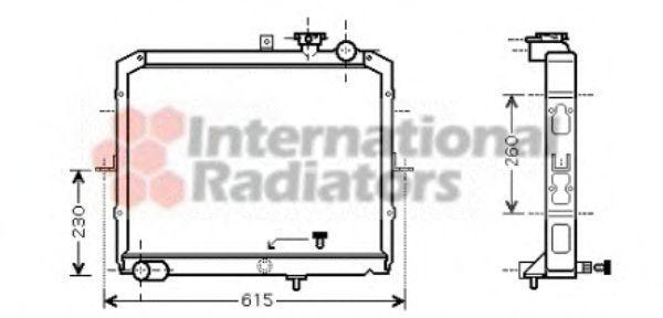 Радиатор, охлаждение двигателя VAN WEZEL 83002036