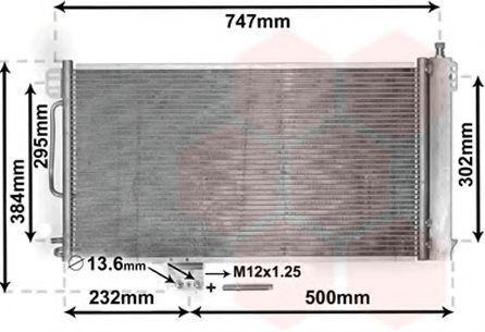 Радиатор кондиционера VAN WEZEL 30005200