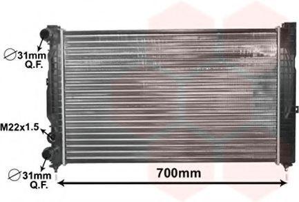 Радиатор охлаждения двигателя VAN WEZEL 03002123
