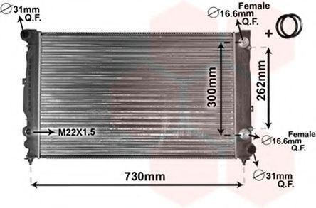 Радиатор охлаждения двигателя VAN WEZEL 03 00 2125