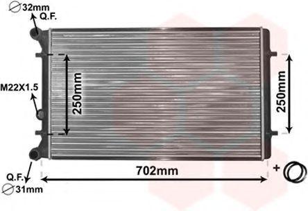 Радиатор охлаждения VAN WEZEL 0300215(5)