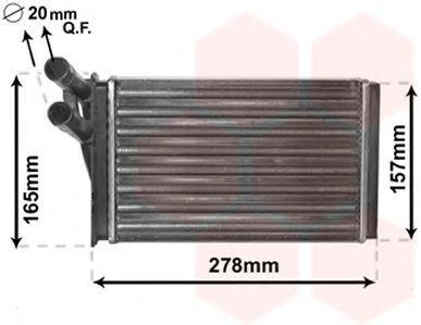 Радиатор отопителя салона VAN WEZEL 03 00 6097