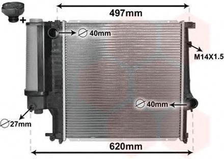 Радиатор охлаждения VAN WEZEL 0600212(4)