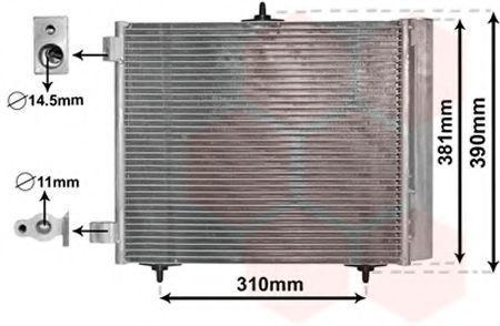 Радиатор кондиционера VAN WEZEL 09 00 5205