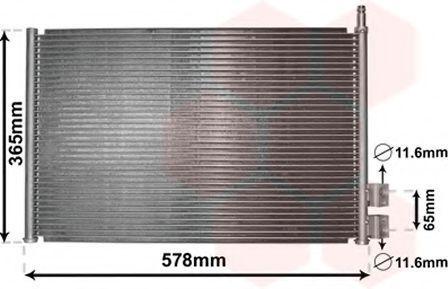 Радиатор кондиционера VAN WEZEL 18005328