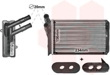 Радиатор отопителя салона VAN WEZEL 58006060