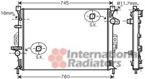 Радиатор охлаждения VAN WEZEL 18 00 2425