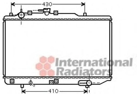 Радиатор, охлаждение двигателя VAN WEZEL 27002221