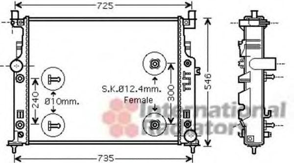 Радиатор двигателя VAN WEZEL 30 00 2436