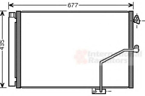 Радиатор кондиционера VAN WEZEL 30005450