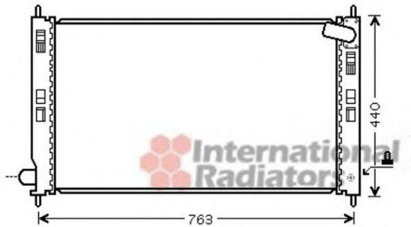 Радиатор охлаждения VAN WEZEL 32 00 2201