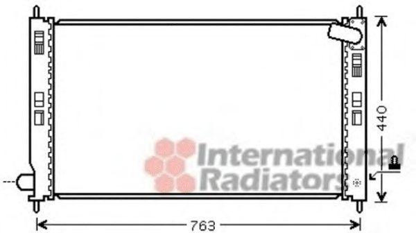 Радиатор охлаждения VAN WEZEL 32002207