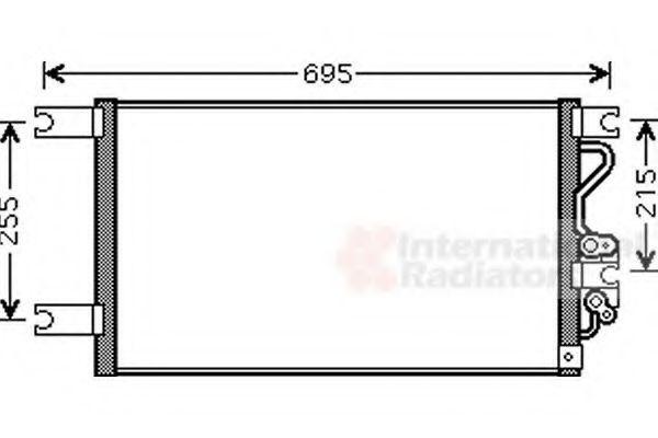 Радиатор кондиционера VAN WEZEL 32 00 5206