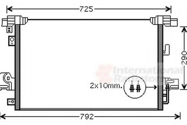 Конденсор кондиционера VAN WEZEL 32005210