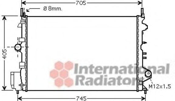 Радиатор охлаждения VAN WEZEL 37 00 2462