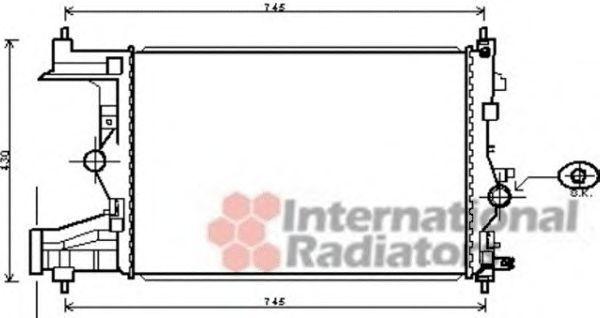 Радиатор, охлаждение двигателя VAN WEZEL 37002485