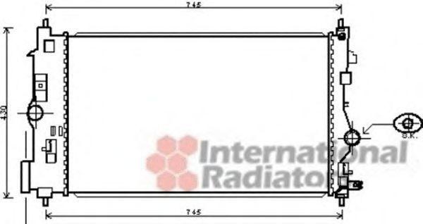 Радиатор, охлаждение двигателя VAN WEZEL 37002488