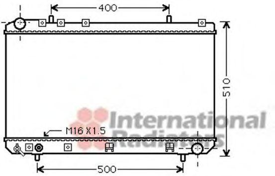 Радиатор, охлаждение двигателя VAN WEZEL 81002086