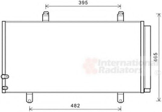 Радиатор кондиционера VAN WEZEL 53005696