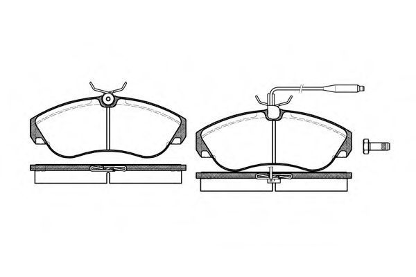 Комплект тормозных колодок, дисковый тормоз Woking P587302