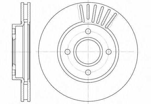 Диск тормозной WOKING D621110