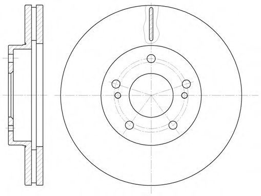Тормозной диск WOKING D6124210