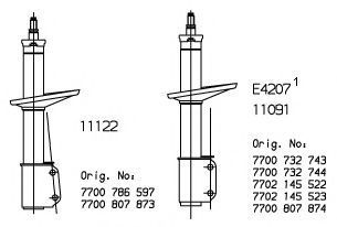 Амортизатор подвески MONROE 11091